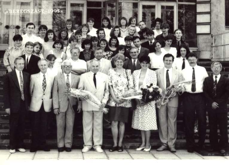 Tanévzáró ünnepség után 1995-ben