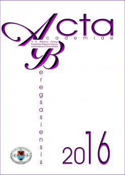 Acta Academiae Beregsasiensis 2016, XV. évfolyam